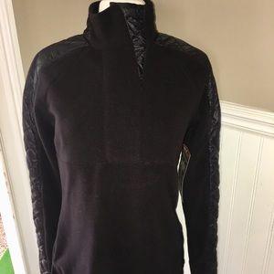 New Athleta Black Micro Fleece Pullover